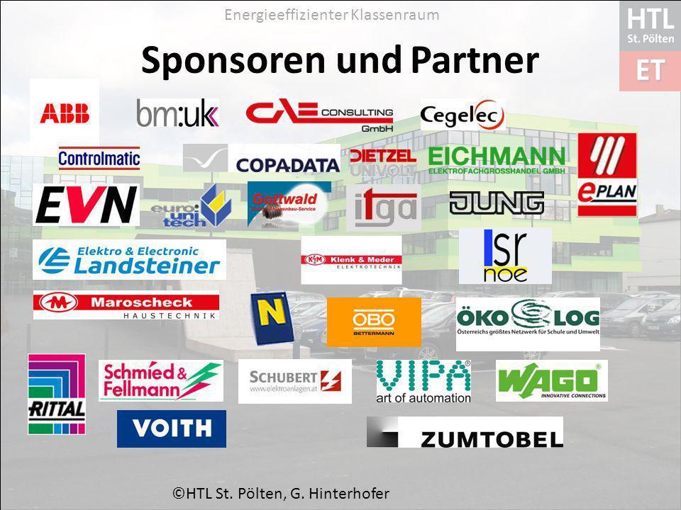 Energieeffizienter Klassenraum Sponsoren und Partner ©HTL St. Pölten, G. Hinterhofer
