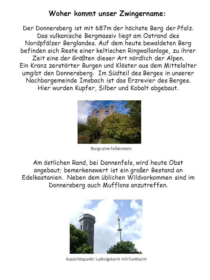 Der Donnersberg ist mit 687m der höchste Berg der Pfalz.