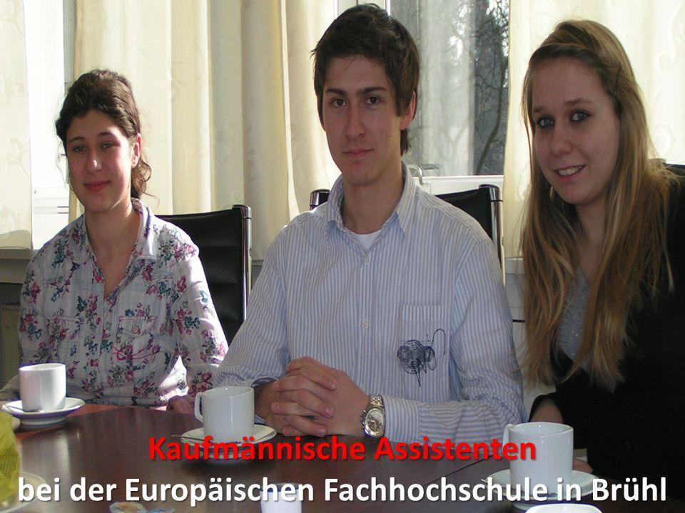 Kaufmännische Assistenten bei der Europäischen Fachhochschule in Brühl