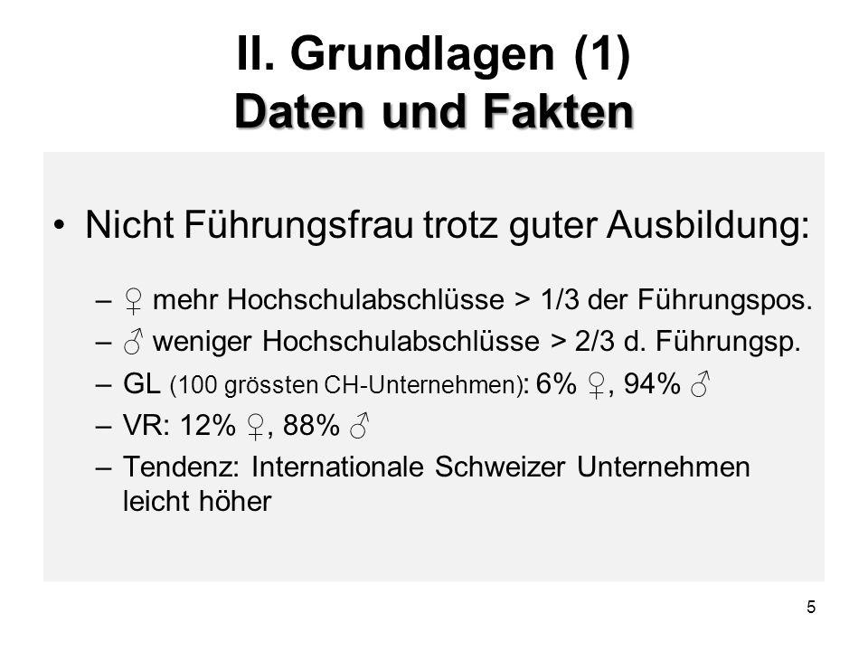 6 Quoten: Garantie der Gleichstellung II.