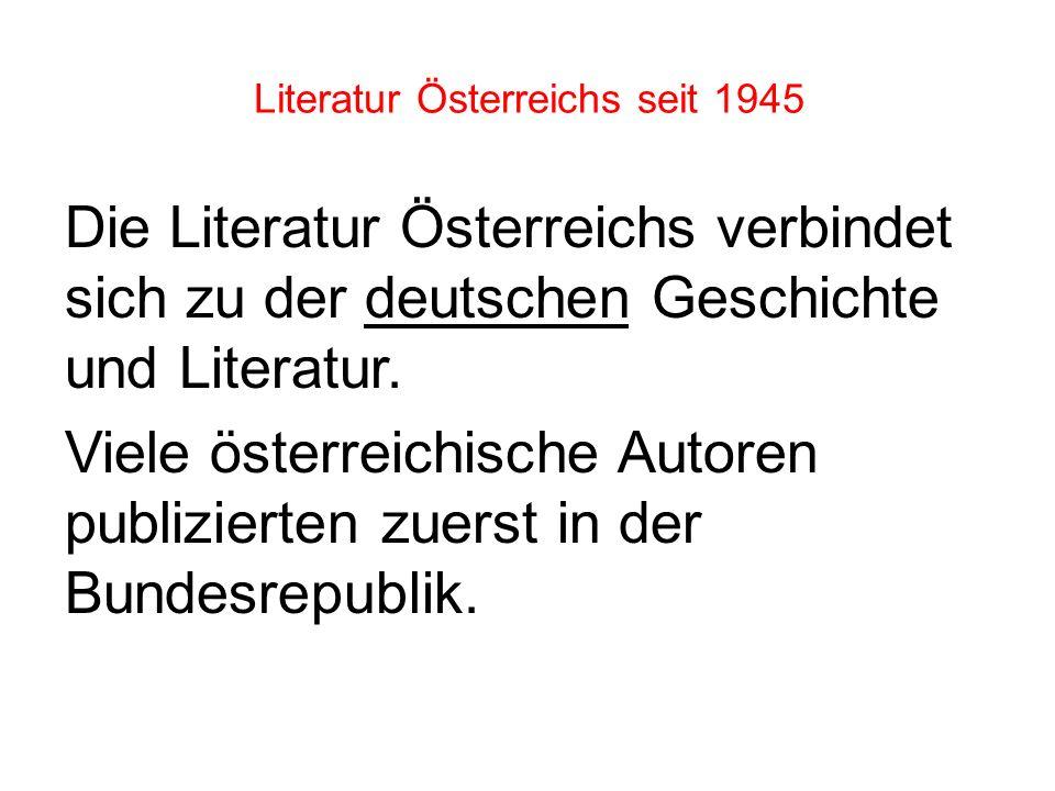 Unter diesen Ereignissen wurden auch die österreichischen Schriftsteller nun zu Politischen Entscheidungen gezwungen. Viele sahen- wie ihre deutsche K