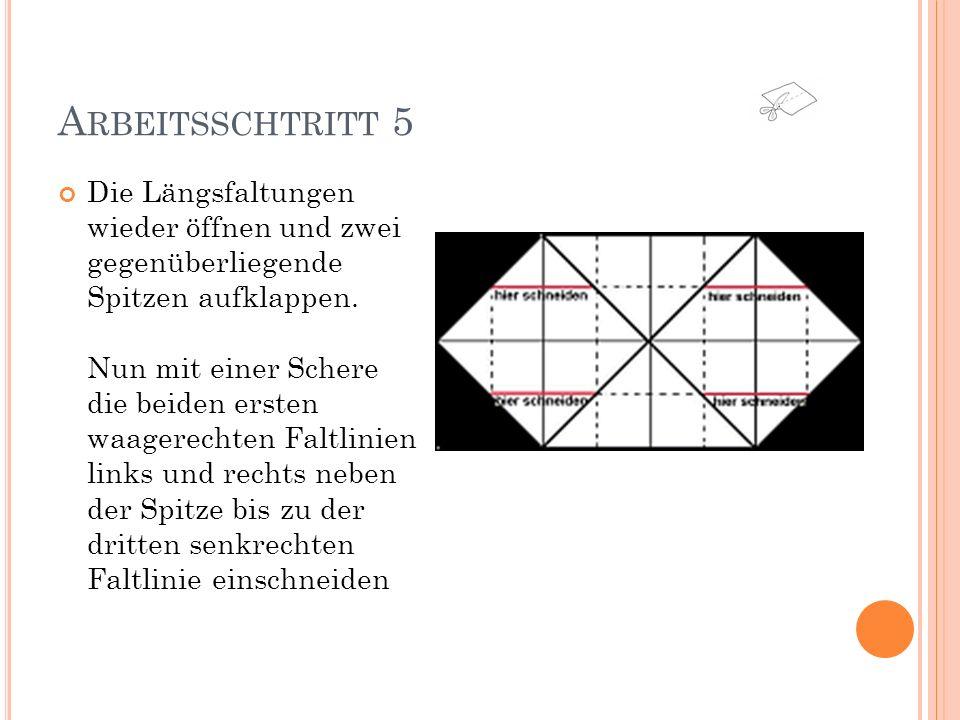 A RBEITSSCHRITT 6 Jetzt nur noch zur Schachtel zusammenfalten, das ergibt sich wie von selbst: Die langen Kanten (BAB) hochstellen, die vier Seitenteile (B) rechtwinklig abknicken, Teil C jeweils über die Seitenwände B nach innen falten.