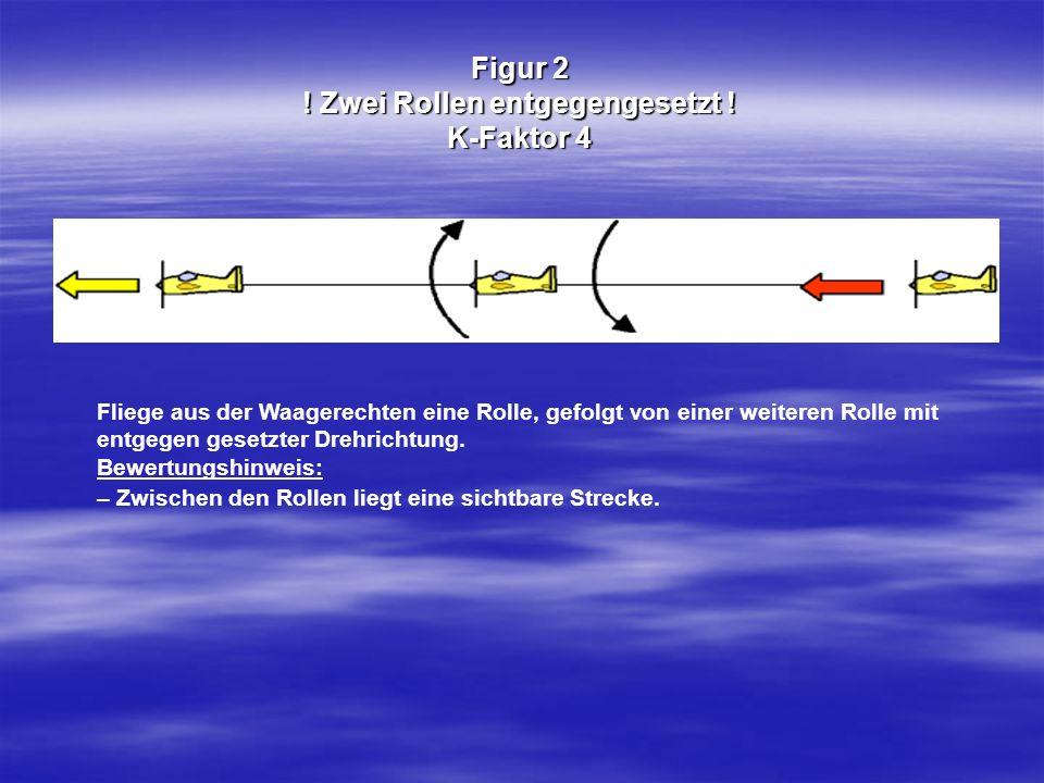 Figur 2 ! Zwei Rollen entgegengesetzt ! K-Faktor 4 Fliege aus der Waagerechten eine Rolle, gefolgt von einer weiteren Rolle mit entgegen gesetzter Dre