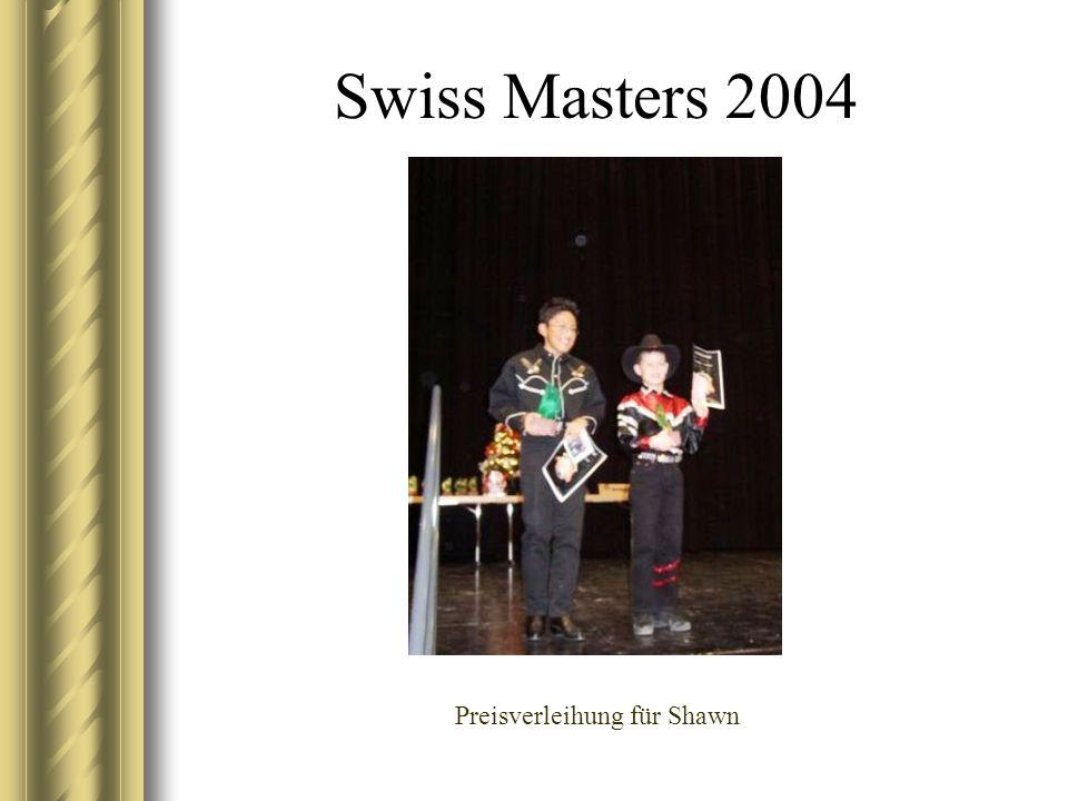 Swiss Masters 2004 Preisverleihung für Shawn