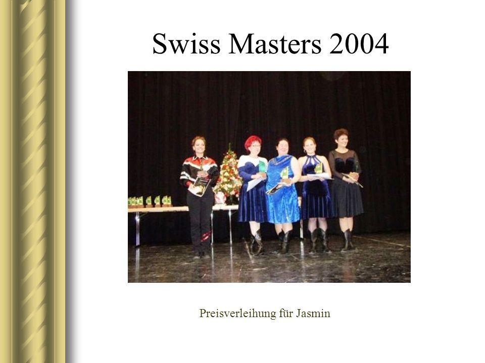 Swiss Masters 2004 Preisverleihung für Jasmin