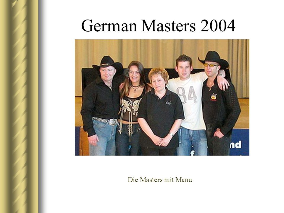 German Masters 2004 Die Masters mit Manu