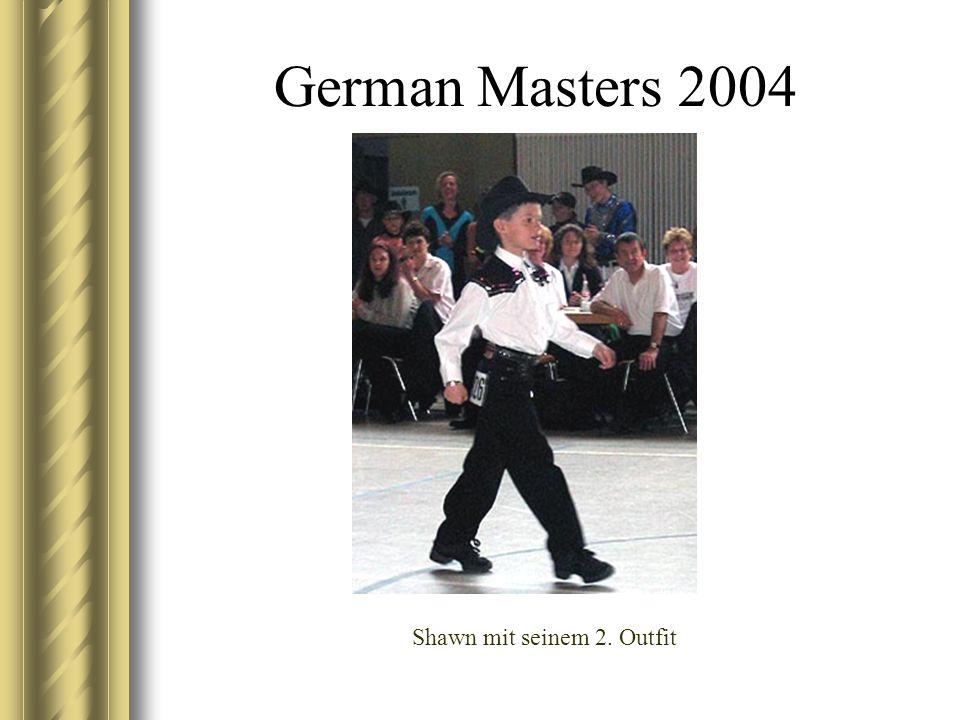 German Masters 2004 Shawn mit seinem 2. Outfit