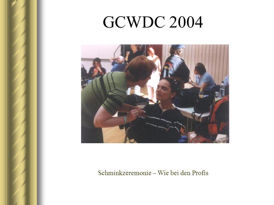 GCWDC 2004 Schminkzeremonie – Wie bei den Profis