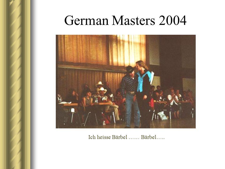 German Masters 2004 Ich heisse Bärbel …… Bärbel…..
