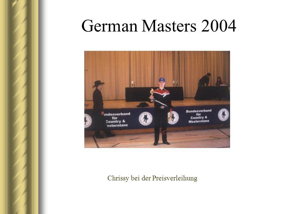 German Masters 2004 Chrissy bei der Preisverleihung