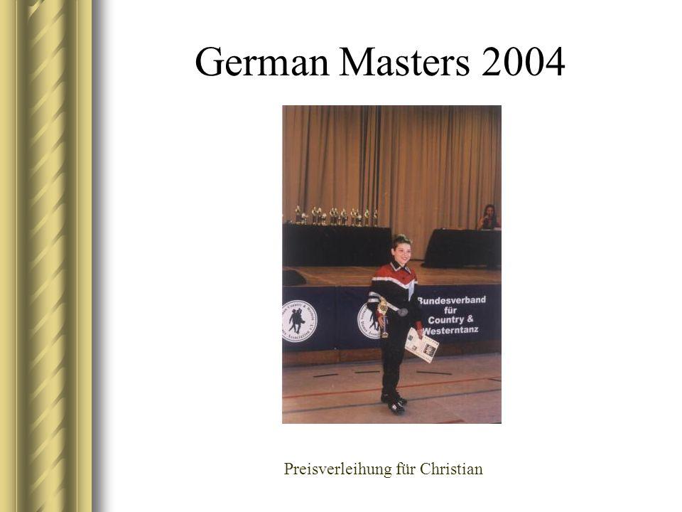German Masters 2004 Preisverleihung für Christian