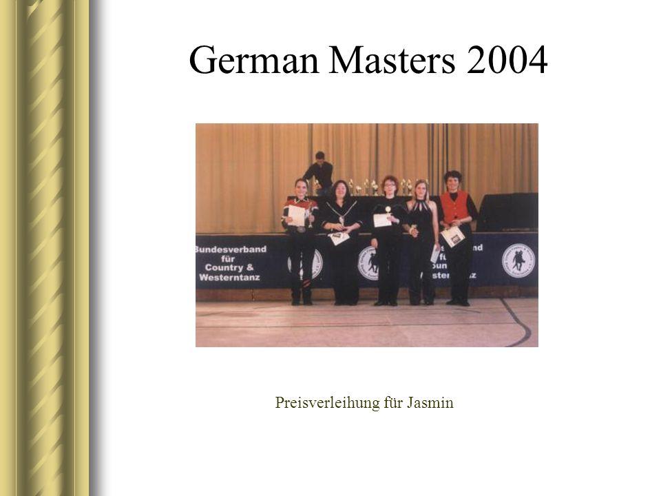 German Masters 2004 Preisverleihung für Jasmin