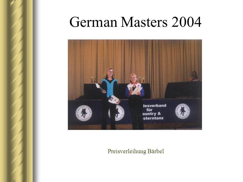 German Masters 2004 Preisverleihung Bärbel