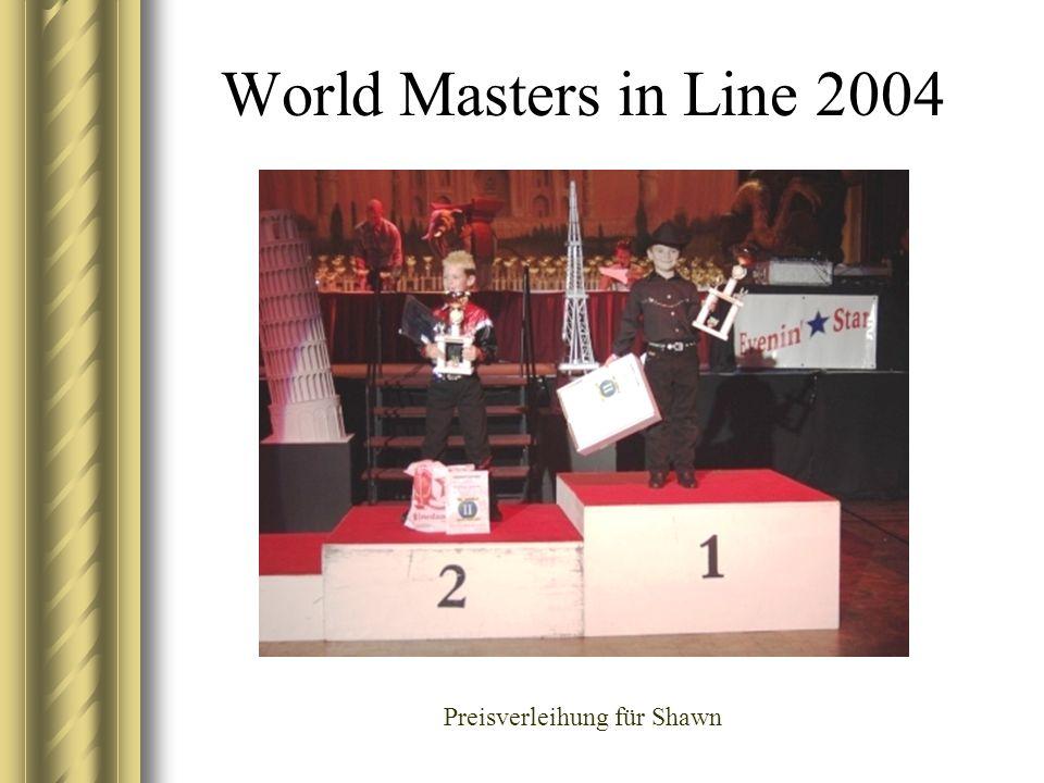 World Masters in Line 2004 Preisverleihung für Shawn