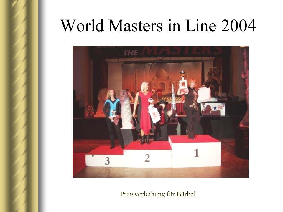 World Masters in Line 2004 Preisverleihung für Bärbel