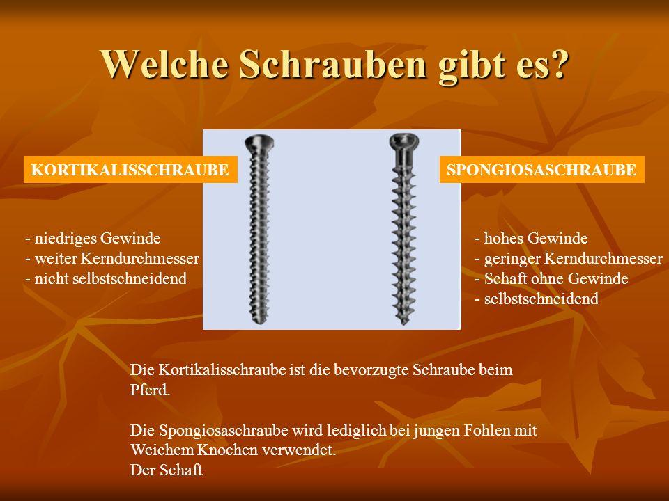 Schraubenmaße Schraubenkopf - Durchmesser: 8,0 mm Schraubenkopf – Höhe: 4,6 mm Kernstück: 3,0 mm Gewinde-Außendurchmesser: 4,5 mm Gewindesteigung: 1,75 mm Imbus: 3,5 mm Bohrer für Gewinde: 3,2 mm Bohrer für Gleitloch: 4,5 mm Schraubenkopf - Durchmesser: 8,0 mm Schraubenkopf – Höhe: 4,6 mm Kernstück: 3,0 mm Schaftstück: 4,5 mm Gewinde-Außendurchmesser: 6,5 mm Gewindesteigung: 2,75 mm Imbus: 3,5 mm Bohrer für Gewinde: 3,2 mm