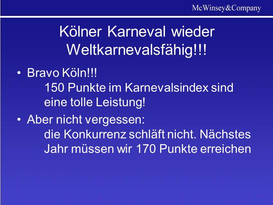 Kölner Karneval wieder Weltkarnevalsfähig!!.Bravo Köln!!.