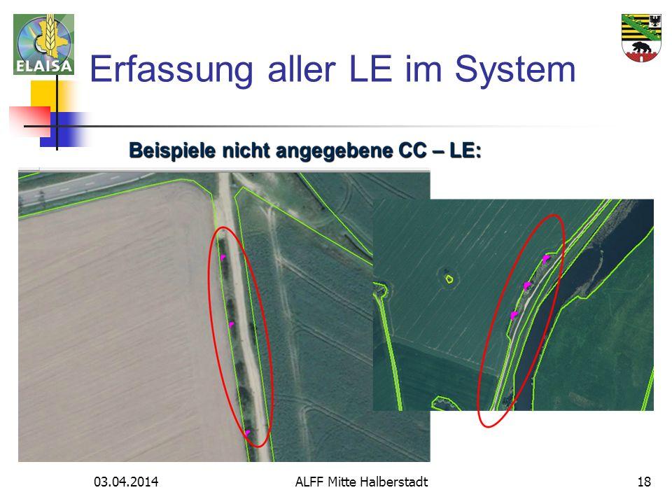 03.04.2014 ALFF Mitte Halberstadt18 Erfassung aller LE im System