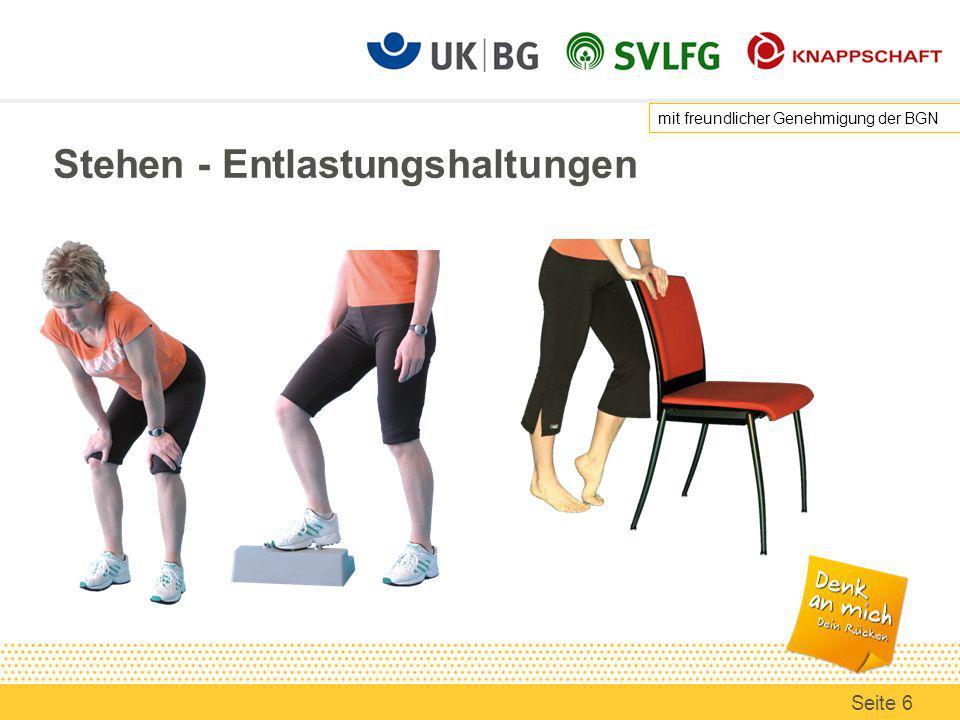 Arbeitsmittel: Stehhilfen Eine Stehhilfe unterstützt den Stand, ist aber kein Stuhl.