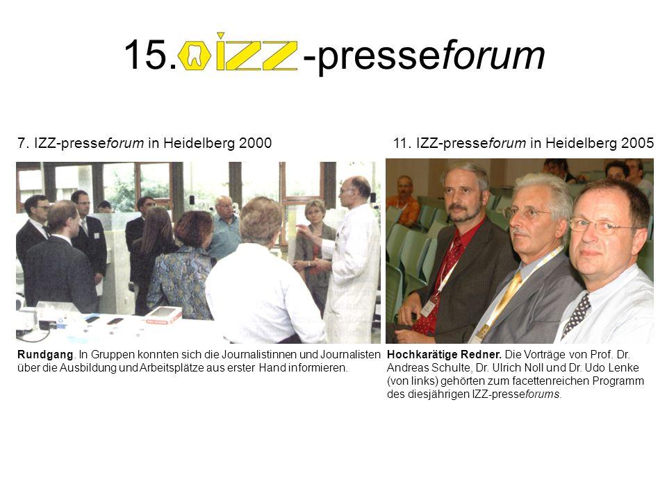 Rundgang. In Gruppen konnten sich die Journalistinnen und Journalisten über die Ausbildung und Arbeitsplätze aus erster Hand informieren. 7. IZZ-press