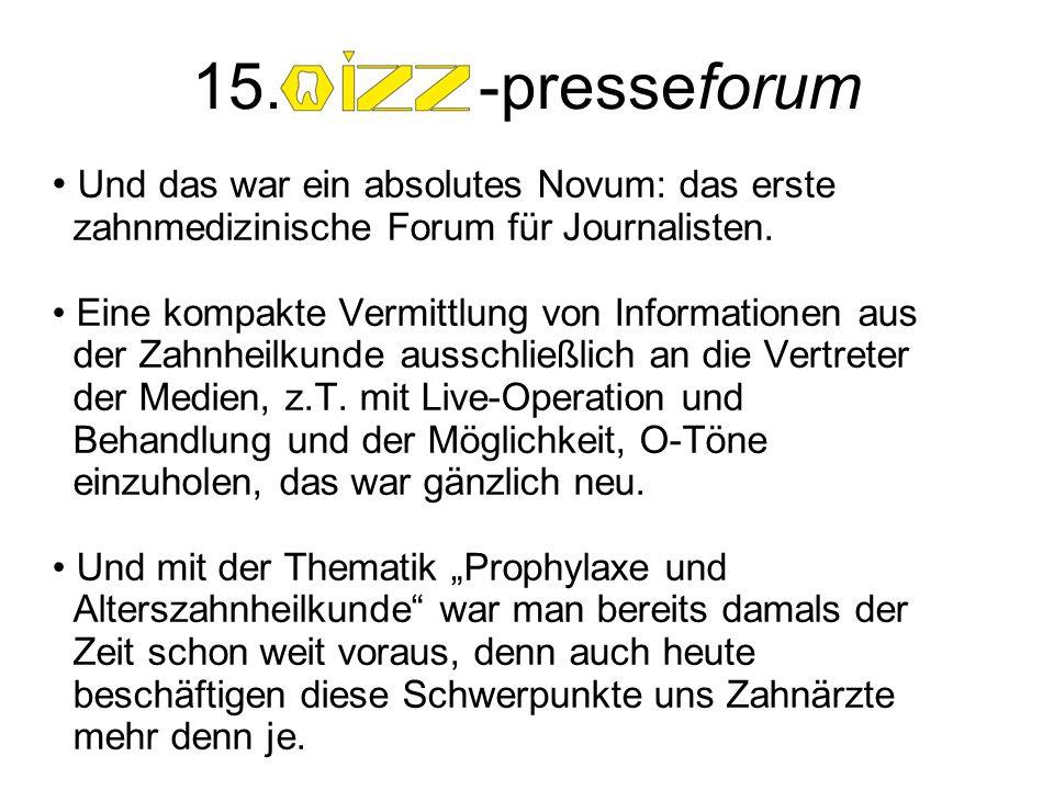 15.-presseforum Resumée. Dr. Sabine Walliser, Evelyne Gebardt, MdEP und Dr.