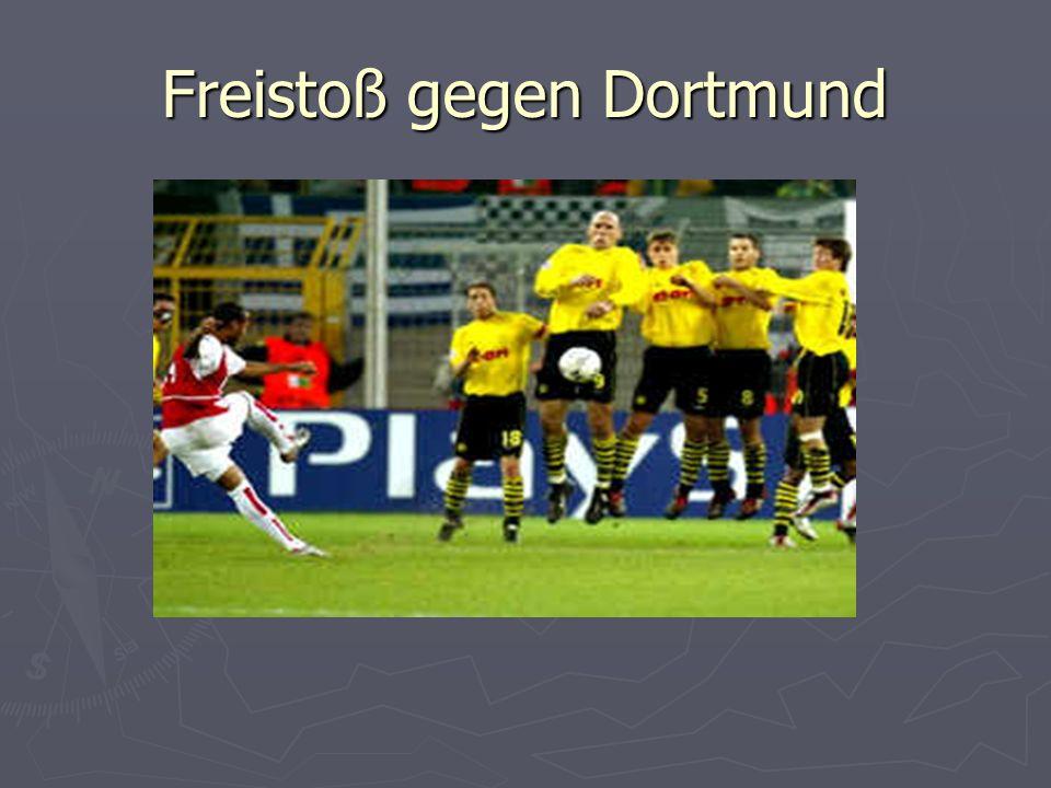 Freistoß gegen Dortmund
