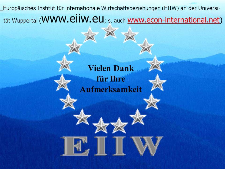 P.J.J. Welfens www.euroeiiw.de (2006)33 Vielen Dank für Ihre Aufmerksamkeit _Europäisches Institut für internationale Wirtschaftsbeziehungen (EIIW) an