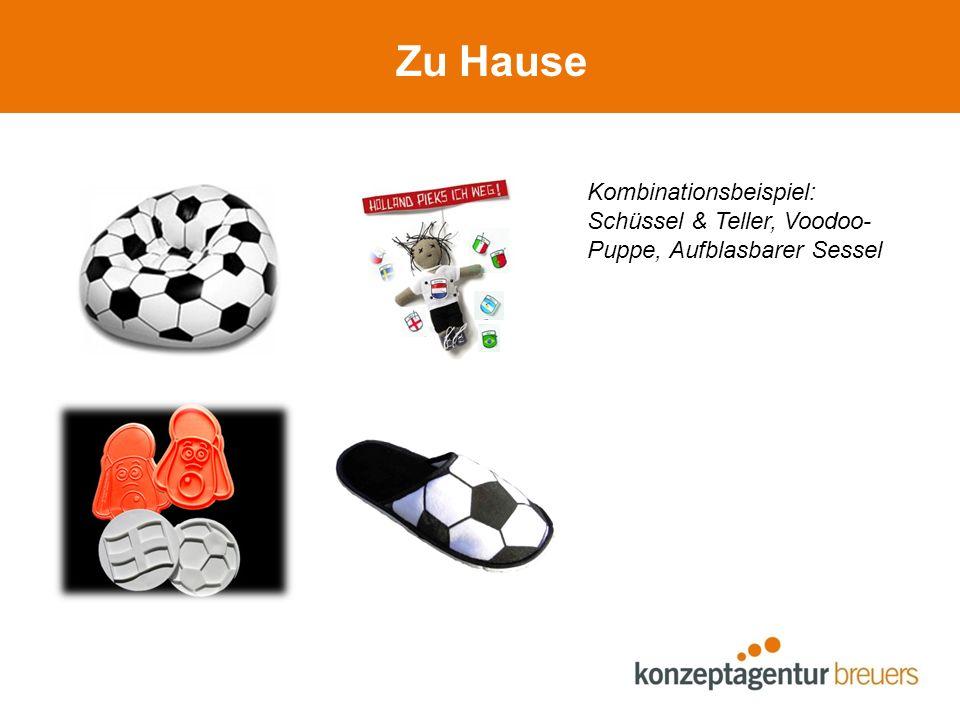 Zu Hause Kombinationsbeispiel: Schüssel & Teller, Voodoo- Puppe, Aufblasbarer Sessel