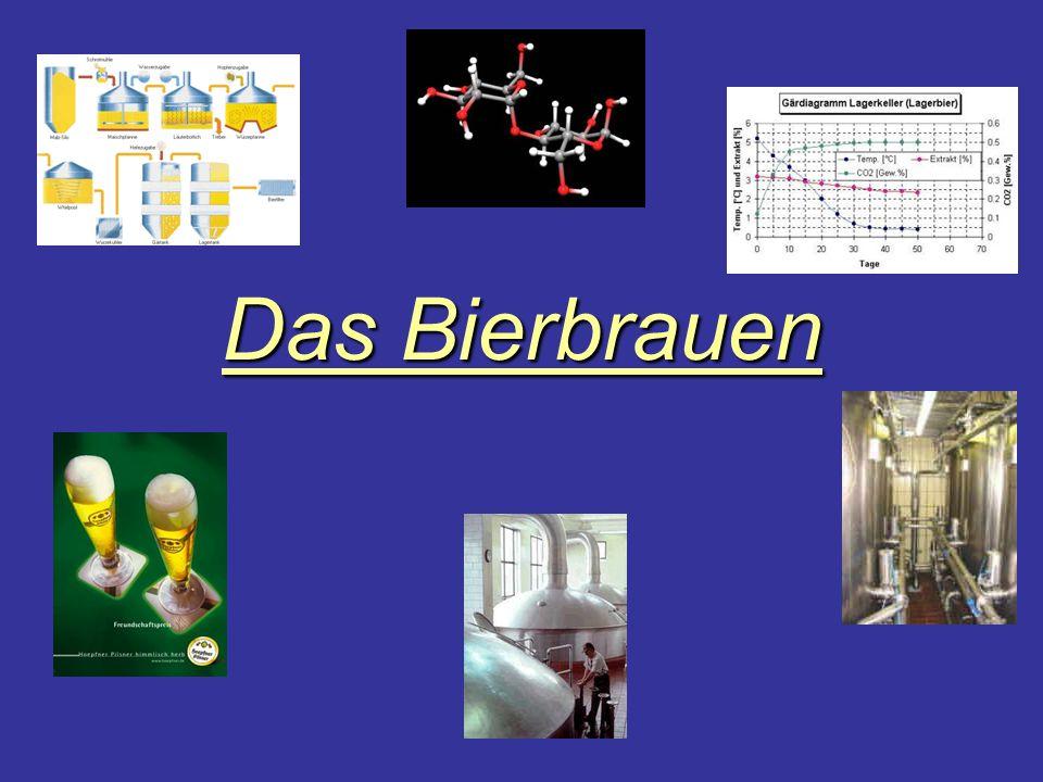 Der Brauvorgang Hopfen + + Wasser + Hefe = BierMalz