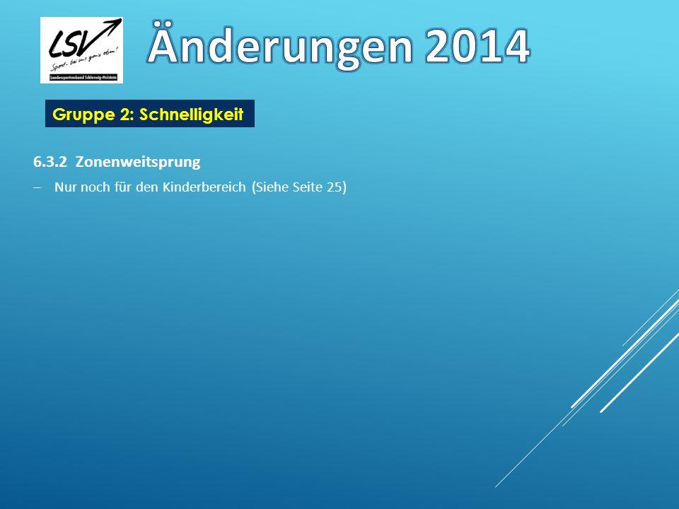 Gruppe 2: Schnelligkeit 6.3.2 25m Schwimmen Gleitphase wie bei Ausdauer Nach dem Start und nach jeder Wende darf eine Strecke von nicht mehr als 15 m völlig untergetaucht geschwommen werden.
