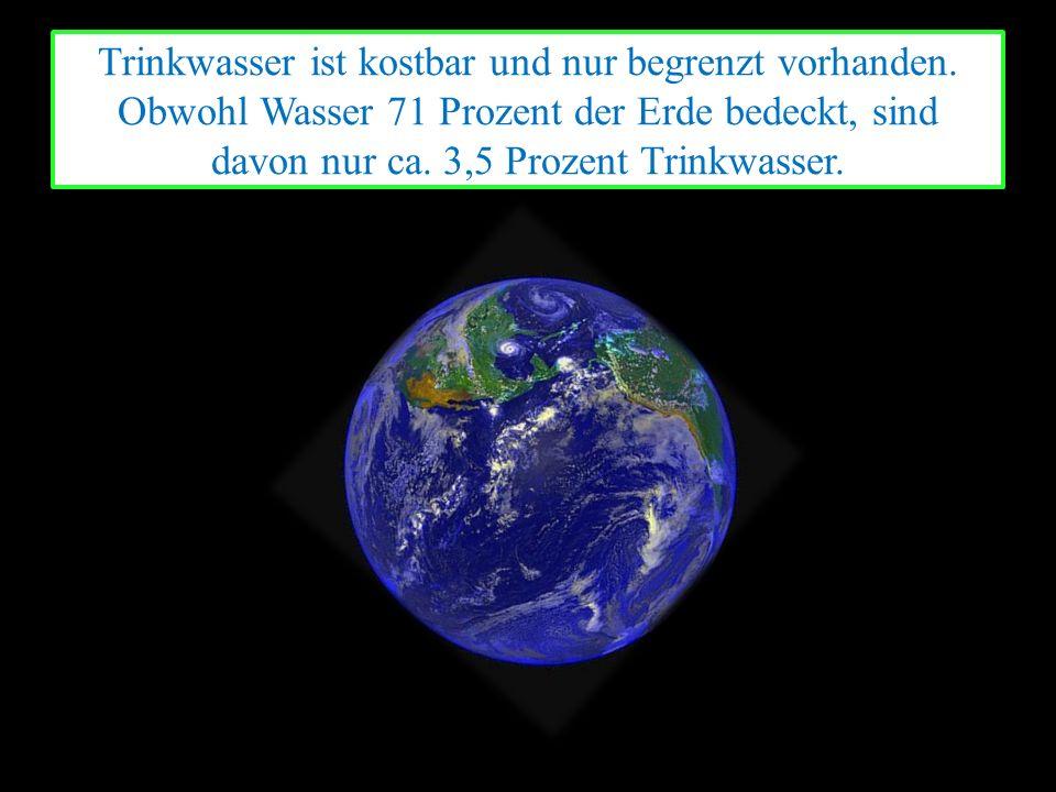 2010 betrug der pro Kopf Verbrauch in Deutschland 127 Liter pro Tag, wovon lediglich 3 Liter zum Kochen und Trinken aufgewendet wurden.