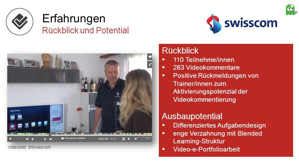 Rückblick 110 Teilnehme/innen 263 Videokommentare Positive Rückmeldungen von Trainer/innen zum Aktivierungspotenzial der Videokommentierung Ausbaupote
