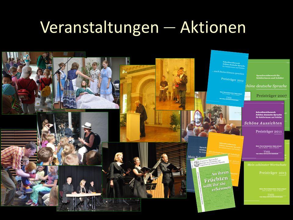 Unsere Muttersprache erleben Es gibt viele spannende Themen, zahlreiche Anlässe und interessante Orte www.fruchtbringende-gesellschaft.de