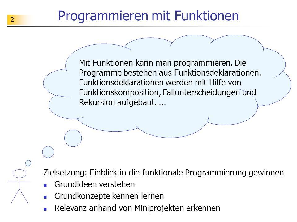 43 Miniprojekt Programminterpreter Ziel ist es, ein System zur Ausführung einfacher imperativer Programme zu entwickeln.