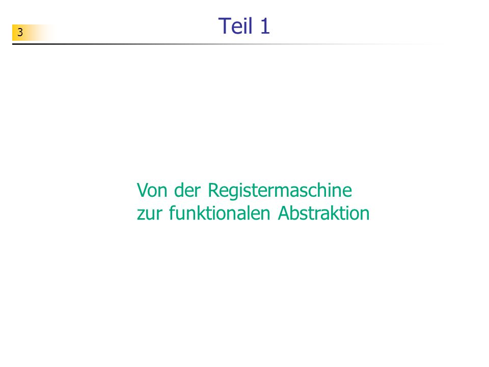94 Lösungsvorschlag def PrimZuwAusfuehren(zuweisung, zustand): return NeuerZustand(zuweisung[1], VariablenWert(zuweisung[2], zustand), zustand) def PrimZuwSeqAusfuehren(zuweisungen, zustand): if len(zuweisungen) == 0: return zustand else: return PrimZuwSeqAusfuehren(zuweisungen[1:], PrimZuwAusfuehren(zuweisungen[0], zustand))