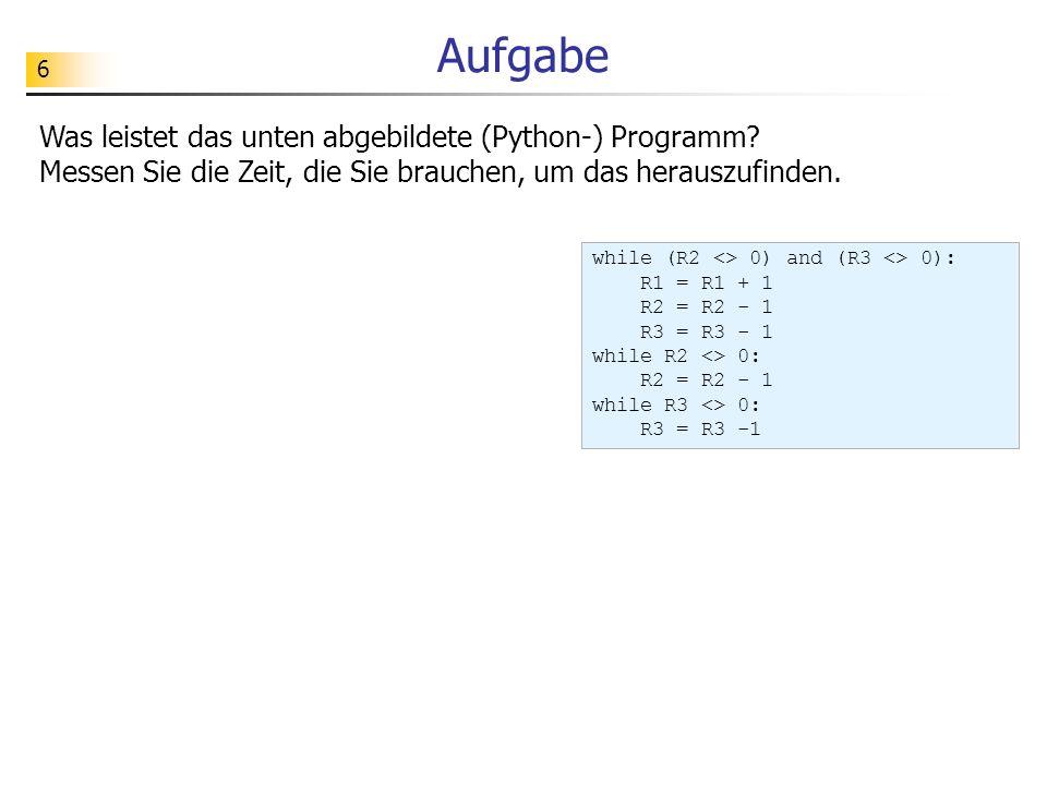 17 Funktionale Modellierung verschluesselnZahl Eingaben: zahl: die zu verschlüsselnde Zahl schluessel: Zahlenpaar bestehend aus der zu addierenden Konstante und dem Divisionsmodul Ausgabe: die berechnete verschlüsselte Zahl (2102, 3000) 2221 119 Spezifikation: schluessel zahl Verschlüsselung: öffentlicher Schlüssel (d, m) = (2102, 3000) z (z + d) % m0119#2005#1809#24 2221#1107#1010#2126 Bed.: z maxCode