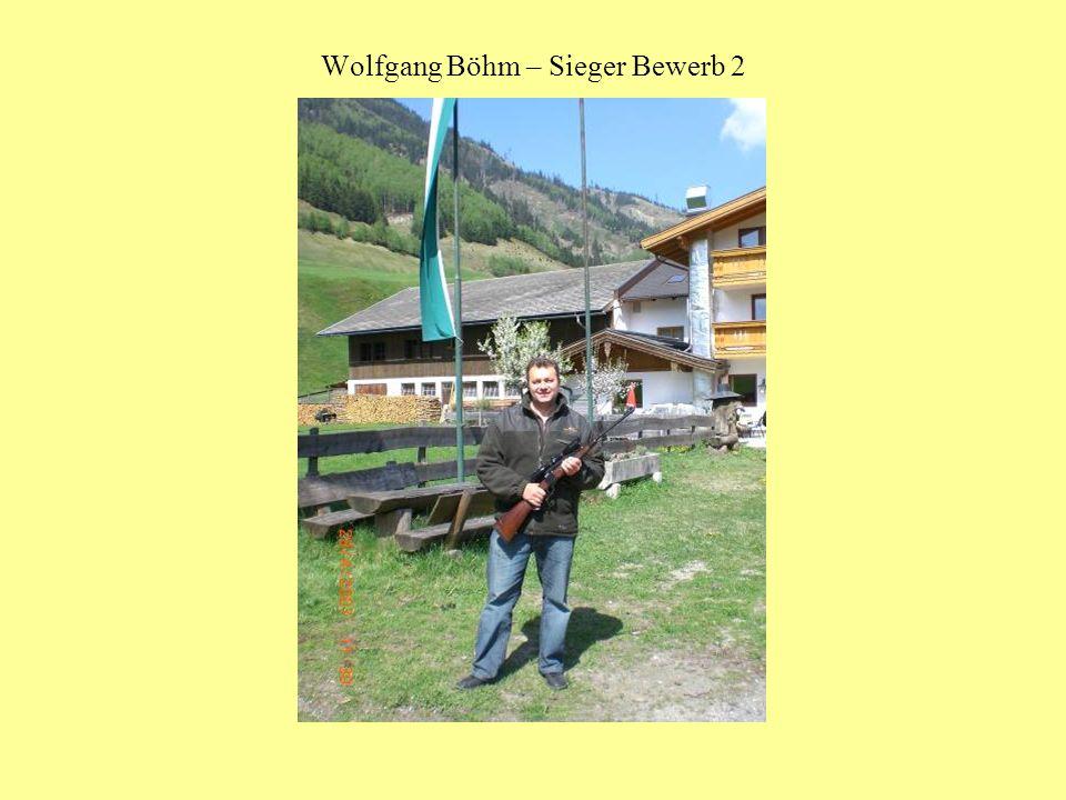Wolfgang Böhm – Sieger Bewerb 2