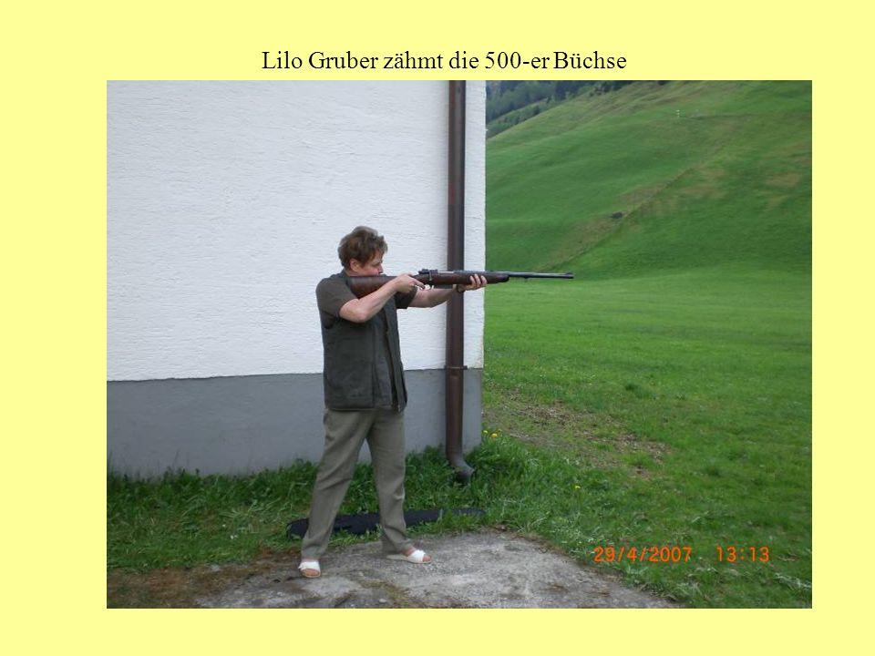 Lilo Gruber zähmt die 500-er Büchse