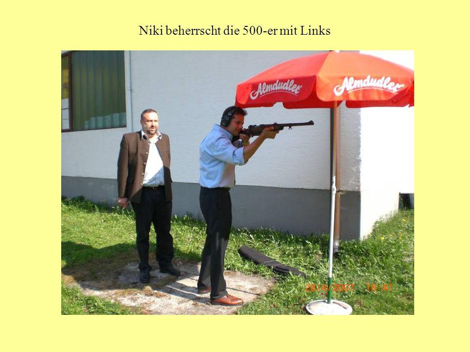 Niki beherrscht die 500-er mit Links
