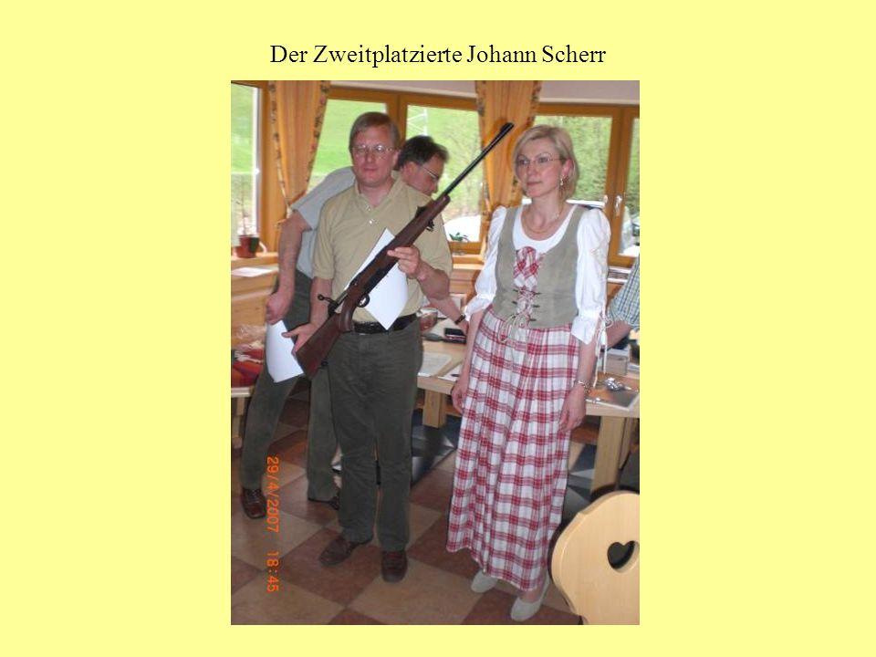 Der Zweitplatzierte Johann Scherr