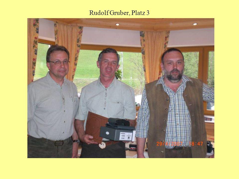 Rudolf Gruber, Platz 3