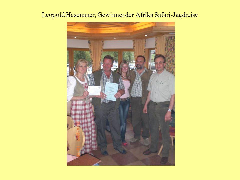 Leopold Hasenauer, Gewinner der Afrika Safari-Jagdreise