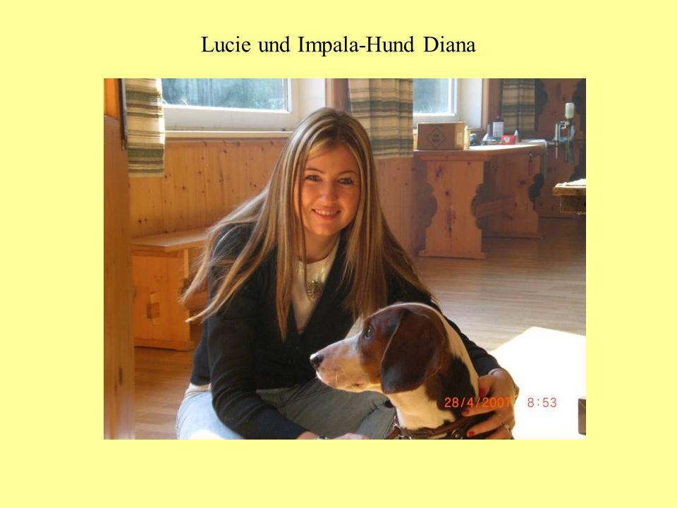 Lucie und Impala-Hund Diana