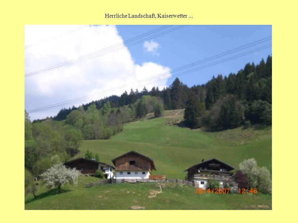 Herrliche Landschaft, Kaiserwetter...