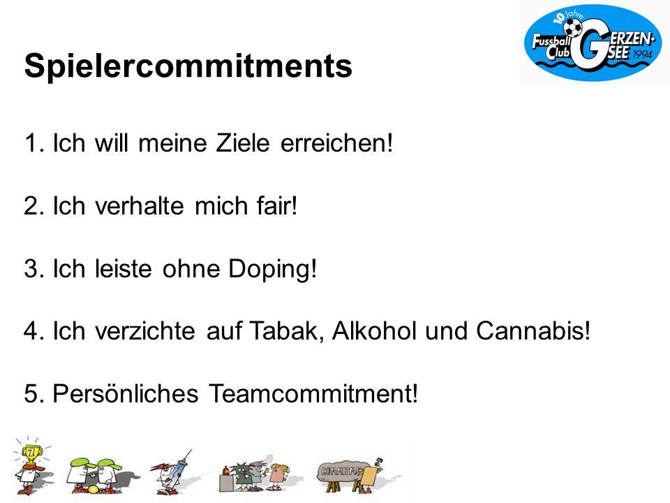 Spielercommitments 1.Ich will meine Ziele erreichen.
