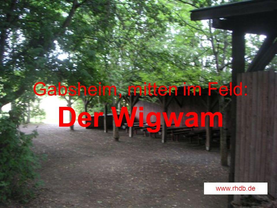 Gabsheim, mitten im Feld: Der Wigwam www.rhdb.de