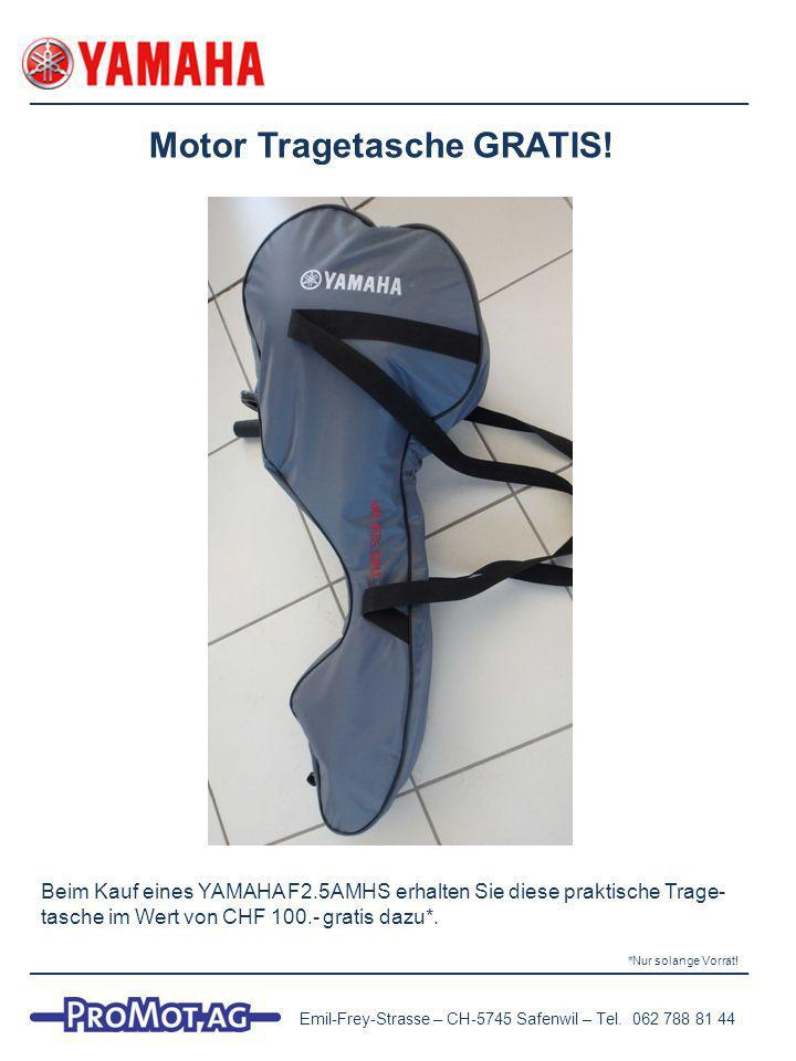 Motor Tragetasche GRATIS.