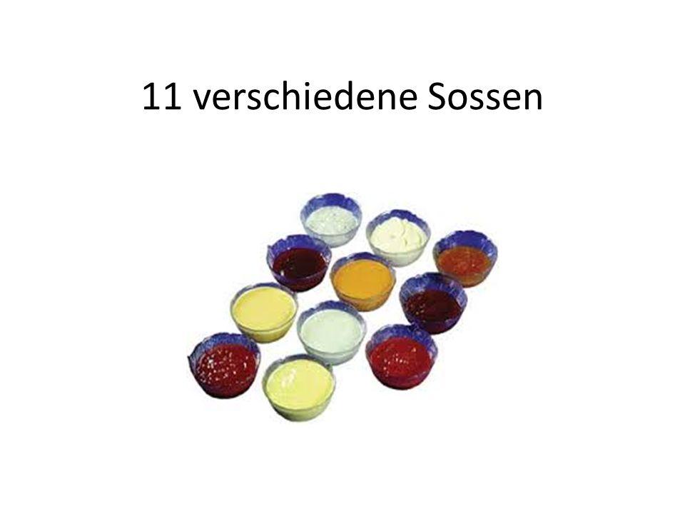 11 verschiedene Sossen