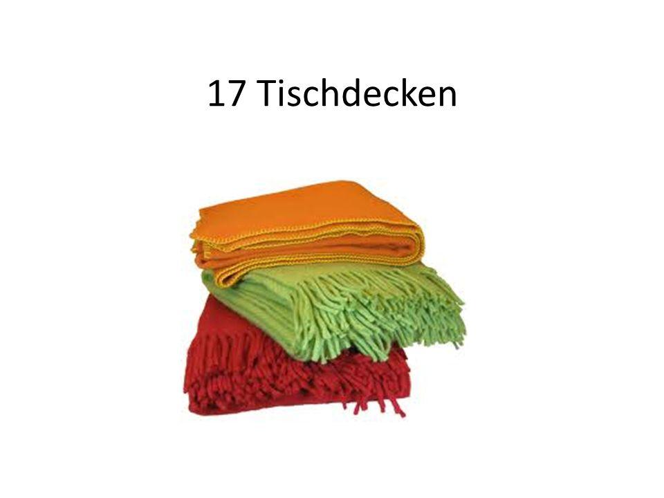 17 Tischdecken