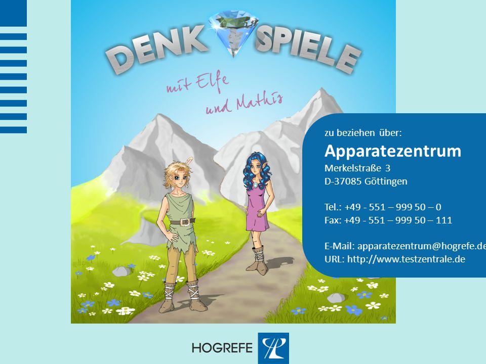 zu beziehen über: Apparatezentrum Merkelstraße 3 D-37085 Göttingen Tel.: +49 - 551 – 999 50 – 0 Fax: +49 - 551 – 999 50 – 111 E-Mail: apparatezentrum@